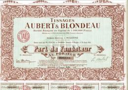 42-TISSAGES AUBERT & BLONDEAU. ROANNE. Tirage 2 500 - Other