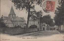 Ensemble De 2 Cartes Bléré Eglise De La Croix Et Avenue De La Gare - Bléré