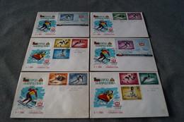 Lot De 6 Courrier Avec Timbres Russes Pour Les Jeux Olympiques Hivers 1964,Innsbruck,collection - Hiver 1964: Innsbruck