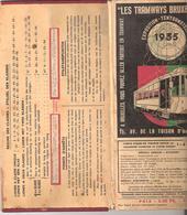 Bruxelles 1935 - Plan Du Réseau Des Tramways Bruxellois -exposition De 1935 - Europe
