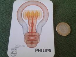 PORTUGAL CALENDARIO DE BOLSILLO CALENDAR 1987 PUBLICIIDAD PHILIPS ILUMINACIÓN OPORTO BOMBILLA LIGHTBULB BOMBILLA LAMPE.. - Calendarios