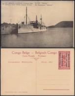 """Congo Belge  - Entier Postal Nr. 33 - Est Africain Allemand-Occupation Belge- Le S.S. """" GÖTZEN """"  (DD) DC1773 - Entiers Postaux"""