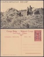 Congo Belge  - Entier Postal Nr. 10 - Est Africain Allemand-Occupation Belge- Porteurs Au Repos   (DD) DC1784 - Postwaardestukken