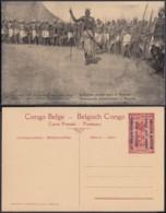 Congo Belge  - Entier Postal Nr. 46 - Est Africain Allemand-Occupation Belge-Indigènes Armés Dans Le Ruanda  (DD) DC1786 - Entiers Postaux