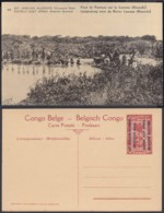 Congo Belge  - Entier Postal Nr. 45 - Est Africain Allemand-Occupation Belge-Pont De Fortune Sur La Luvone (DD) DC1787 - Postwaardestukken