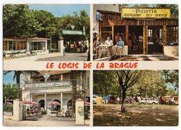 CPM   06   ANTIBES    LOGIS DE LA BRAGUE   1970    MULTIVUES    HOTEL BAR RESTAURANT CAMPING - Restaurants