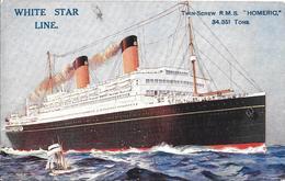 CPA-1920-PAQUEBOT-WHITE STAR LINE-COLOMBUS1913/1922 Puis 1922/1938-R.M.S HOMERIC-Ligne SOUTHAMPTON/NEW YORK/ USA-TBE - Paquebots