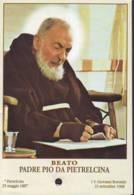 Reliquia Di Beato Padre Pio Che Scrive, Santino Pieghevole Con Preghiera - Religione & Esoterismo