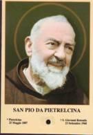 Reliquia Di San Pio Da Pietrelcina Pensieroso, Santino Pieghevole Con Preghiera - Religione & Esoterismo