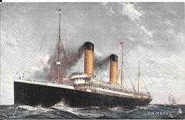 CPA-190-PAQUEBOT-WHITE STAR LINE-S.S.OCEANIC-1871/1846-Ligne Pacifique-TBE - Paquebots