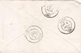 Lettre Ardes Sur Couze Pour Charnay / GC 145 Sur N°60 / Convoyeur- Station  St Chamont 6 Fevr 73 - Postmark Collection (Covers)