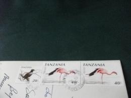 STORIA POSTALE  FRANCOBOLLO UCCELLI BIRD TANZANIA CHEETAH - Tanzania