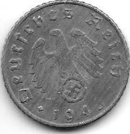 Third Reich 5 Pfennig 1943 A  Km100  Xf - [ 4] 1933-1945 : Troisième Reich