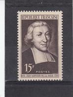 1951 - YT N° 882** 15fr Brun-lilas - Saint Jean-Baptiste De La Salle - France