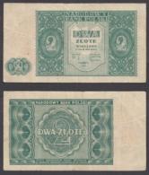Poland 2 Zlote 1946 (aVF) Condition Banknote P-124 - Polonia