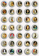 35 X The Munsters LILY Movie Film Fan ART BADGE BUTTON PIN SET 1 (1inch/25mm Diameter) - Films