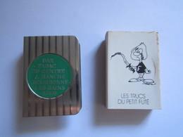 ETUI PORTE BOITE D'ALLUMETTES PUBLICITAIRE BOURBONNE LES BAINS 52400 BAR TABAC DU CENTRE J. HANCHE - Boites D'allumettes