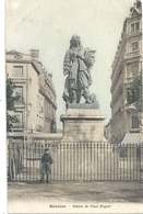 BEZIERS . STATUE DE PAUL RIQUET + 1 ENFANT AU 1er PLAN . CARTE COLORISEE NON ECRITE - Beziers