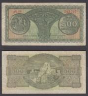 Greece 500 Drachmai 1950 (VF) Condition Banknote KM #325 - Grecia