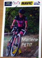 Cyclisme - Carte Féminine Marlène PETIT Cyclo-Cross 2019 Signée - Cycling
