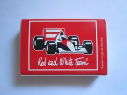 BOITE D'ALLUMETTES PUBLICITAIRE RED AND WHITE TEAM FORMULE 1 - F1 - Boites D'allumettes