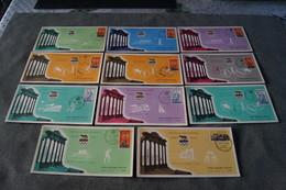 Lot De 11 Cartes Avec Timbres Pour Les Jeux Olympiques 1960,Rome,collection - Ete 1960: Rome