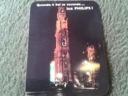 PORTUGAL CALENDARIO DE BOLSILLO CALENDAR 1989 PUBLICIDAD PHILIPS LUZ PORTO OPORTO IMAGEN TORRE TOWER NIGHT LIGHT....VER - Calendarios