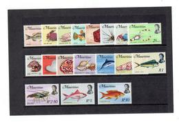 TP - OCEAN INDIEN - ILE MAURICE N° 329 A 346 - XX LUXES - TTB - 1969 - Mauritius (1968-...)