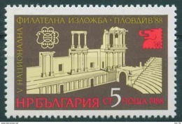 + 3734  Bulgarien 1988 National Stamp Exhibition ** MNH /Nationale Briefmarkenausstellung PLOVDIV 88 Bulgarie Bulgarien - Bulgarien