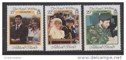 Falkland Islands 1986 Royal Wedding Of Prince Andrew 3v ** Mnh (41756A) - Falklandeilanden