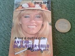 PORTUGAL CALENDARIO DE BOLSILLO CALENDAR 1988 ADVERTISING PUBLICIDAD PHILIPS LUZ MUJER RUBIA GIRL WOMAN BLONDIE VER FOTO - Calendarios