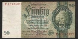 GERMANY  50 REICHMARK 1933г - [ 4] 1933-1945 : Troisième Reich