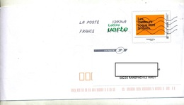 Pap Voeux Timbres Flamme Chiffree - Postal Stamped Stationery