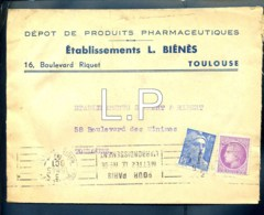 1924  Marque Pub Pharmaceutiques étab L.biénès Toulouse 03-10-1947   N°2046 - Advertising