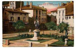 CPSM Colorisée Saint Etienne 42 Loire Place Bolvin Et Jehanne Jeanne D' Arc - Saint Etienne