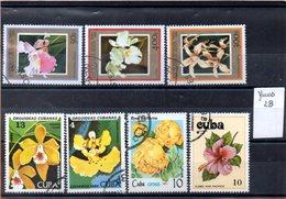 Thématique Fleurs, Lot De 7 Timbres, Lot N° 28 - Autres
