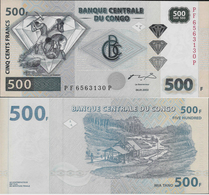 Congo DR 2002 - 500 Francs - Pick 96 UNC - Congo