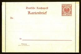 ENTIER POSTAL ALLEMAGNE SUR LETTRE AVEC 3 RABATS- KARTENBRIEF DEUTSCHE REICHSPOST- NEUF**- 2 SCANS - Germania