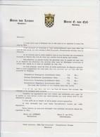 BARON VON LERSNER - BARON E. VAN EYLL - VIGNOBLES DE RHENANIE - Alcools