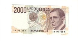 2000 Lire Marconi Serie Sostitutiva Xb 1992 Q.fds LOTTO 1655 - [ 2] 1946-… : Républic