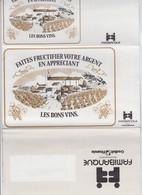 FAMIBANQUE - CARTE EPARGNE - CREDIVIT FINANCIA - LES BONS VINS  DEPLIANT A4 - 4 PAGES - 1977 - Alcools