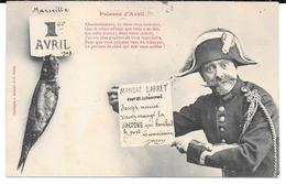 Cpa Bergeret - Poisson D'Avril / Mandat D'arrêt Contre Joseph...(Précurseur). - Bergeret