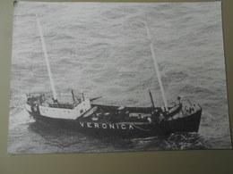 RADIO VERONICA 1960-1974 VERSO RENSEIGNEMENTS SUR LES STATIONS PIRATES EN MER F.R.C. / B.P.3 ACREN BELGIQUE - Radio