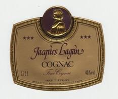 ETIQUETTE -  COGNAC - J LAGAN - FRENCH BRANDY - P. OUVRARD - PJ ROUGE' - TOTAL DE 30 ETIQUETTES - Alcools