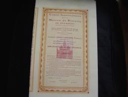 """Obligation De 100F""""Maison De Retraite De Stembert """"Verviers 1932 Excellent état,avec Tous Les Coupons - Actions & Titres"""