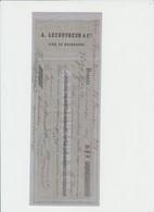 HAMPTEAU - BARON DE WALLENSART - BEAUNE - A.LECOUVREUR - VINS DE BOURGOGNE - 1866 - Alimentaire