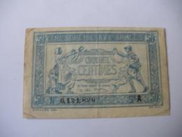 0.50 F TRESORERIE AUX ARMEES TYPE 1917 SERIE A - Treasury