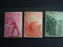 Belgique: Chemin De Fer 260/62*. Métiers Divers - 1942-1951