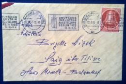 Germania Berlino 1951 Unif.70 Son Cover 22/07/52 VF - Berlin (West)