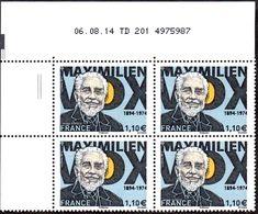 France Coin Daté N° 4906 ** (2tirets) Maximilien Du 06.08.2014 - Coins Datés
